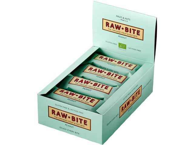RAWBITE Boîte de barres 12x50g, peanut